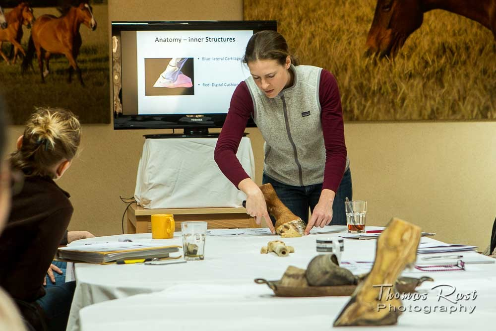 Gabi Neurohr - a hoof care specialist gives a course about hoof anatomy